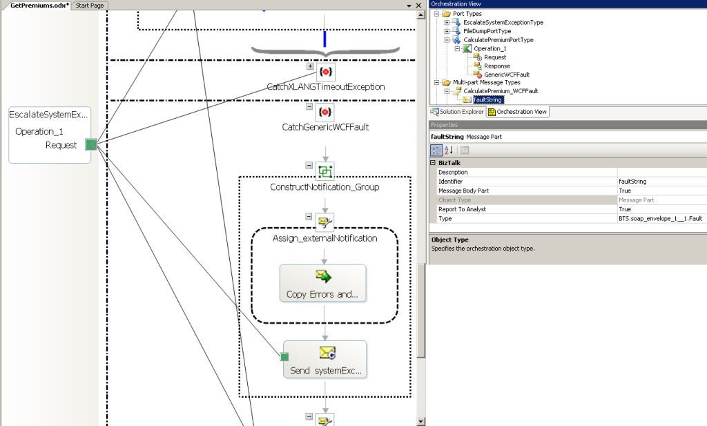 Catching a WCF fault in a BizTalk orchestration