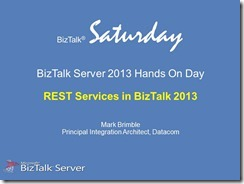 BizTalk 2013 Hands On Day - 03 REST
